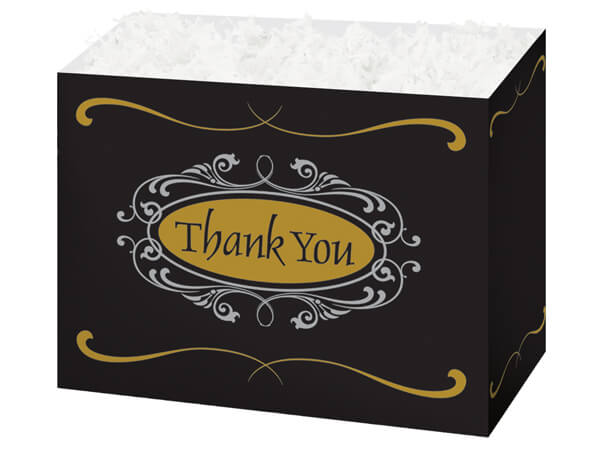 Large Thank You Script Basket Boxes 10-1/4x6x7-1/2""