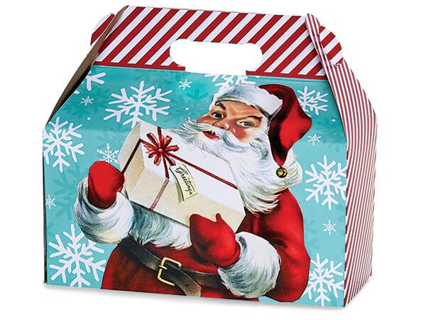 "Vintage Christmas Gable Box, 9.5x5x5"", 6 Pack"