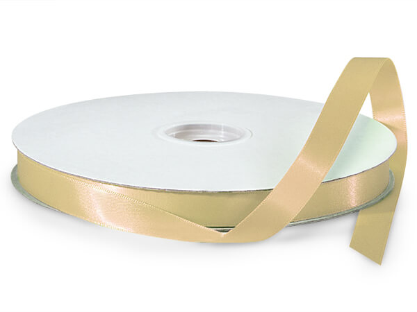 "Gold Double Faced Satin Ribbon, 5/8""x100 yards"