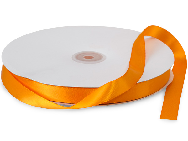 "Tropical Orange Double Faced Ribbon, 5/8""x100 yards"