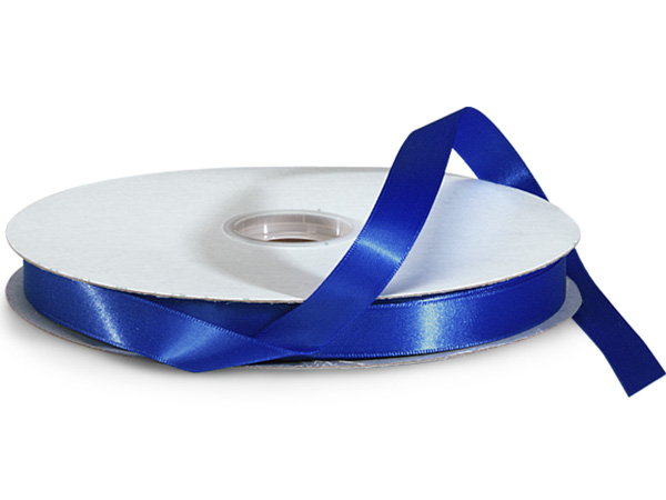 "Royal Blue Double Faced Satin Ribbon, 5/8""x100 yards"