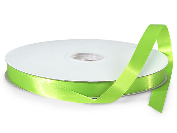 "Chartreuse Green Double Faced Satin Ribbon, 5/8""x100 yards"