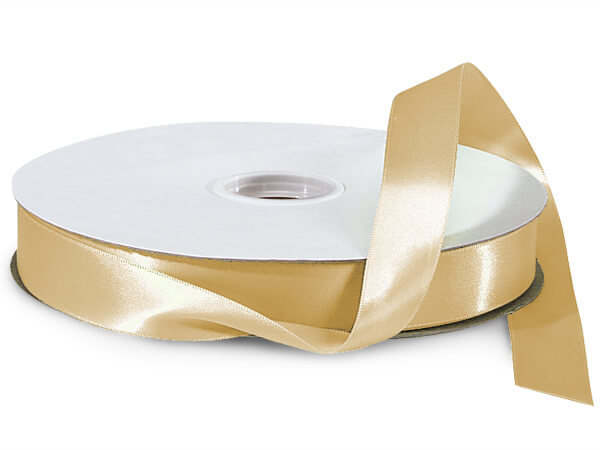 "Gold Double Faced Satin Ribbon, 7/8""x100 yards"