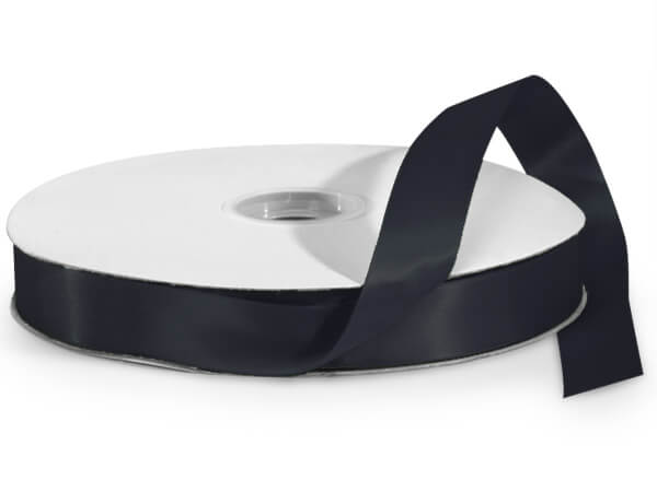Black Double Faced Satin Ribbon