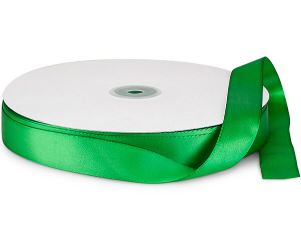 "Emerald Green Double Faced Satin Ribbon, 7/8""x100 yards"