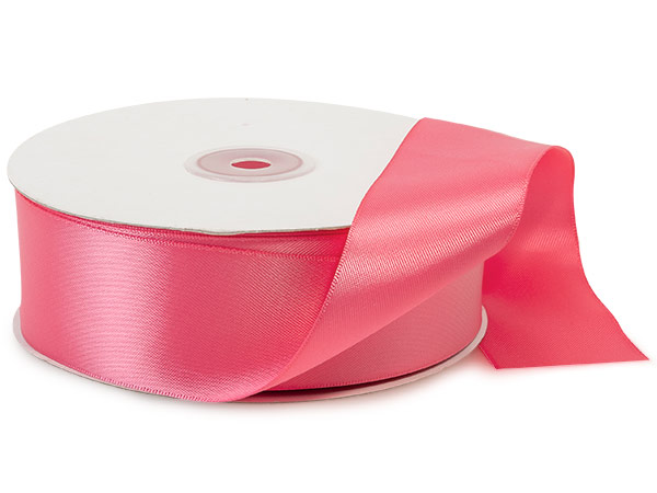 "Coral Rose Double Faced Satin Ribbon, 1-1/2""x50 yds"