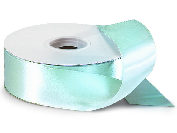 "Aqua Blue Double Faced Satin Ribbon, 1-1/2""x50 yards"