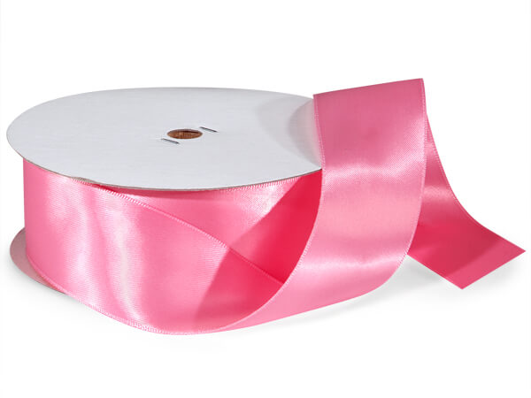 "Pink Double Faced Satin Ribbon, 1-1/2""x50 yards"