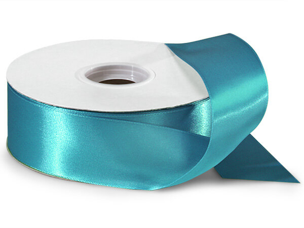 "Caribbean Teal Double Faced Satin 1-1/2""x50 yds"