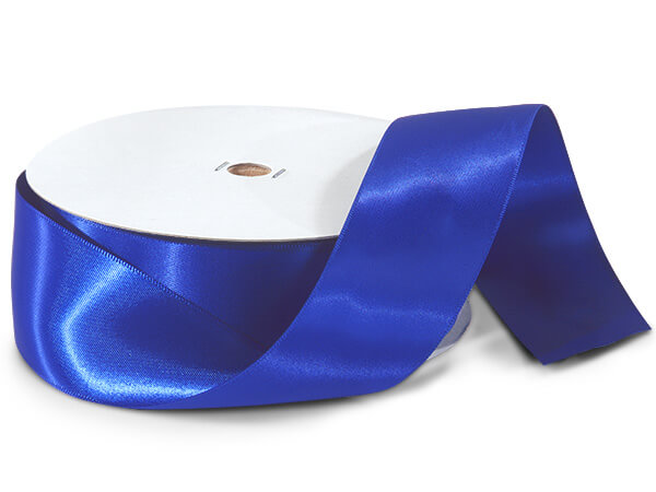 "Royal Blue Double Faced Satin Ribbon, 1-1/2""x50 yards"