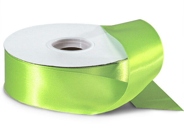 "Chartreuse Green Double Faced Satin Ribbon, 1-1/2""x50 yards"