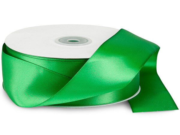 "Emerald Double Faced Satin 1-1/2""x50 yds"