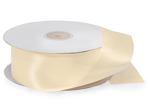 Ivory Double Faced Satin Ribbon
