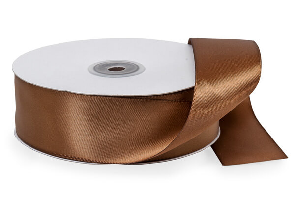 "Chocolate Double Faced Satin 1-1/2""x50 yds"