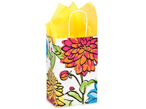 "Rose Vibrant Floral Bags 250 Pk 5-1/4x3-1/2x8-1/4"""
