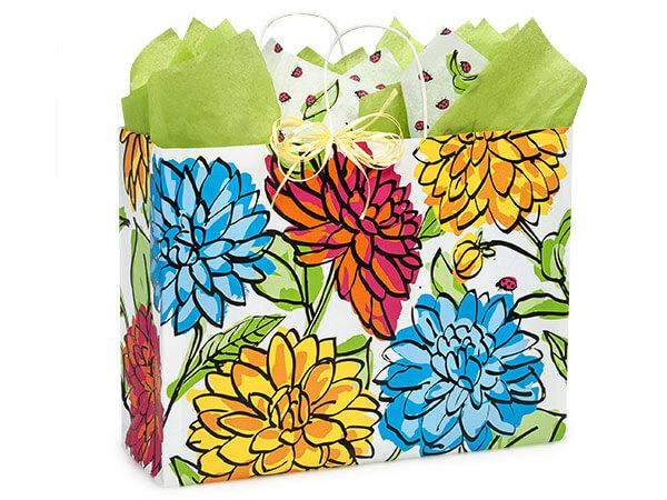 """Vogue Vibrant Floral Bags 25 Pk 16x6x12-1/2"""""""