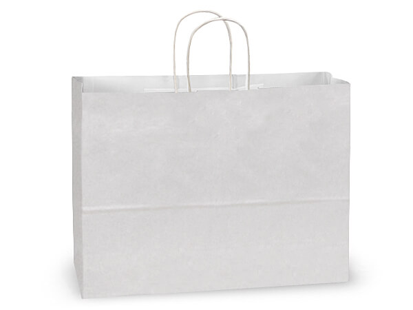 Vogue White Kraft Paper Bags 250 Pk 16x6x12-1/2""