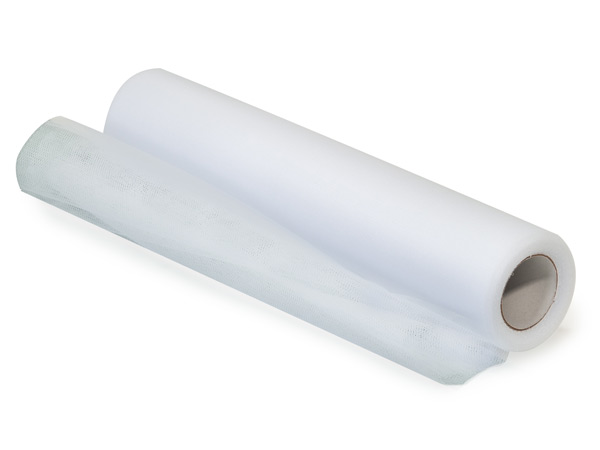 "**Bright White Roll of Tulle, 12""x25 yards"