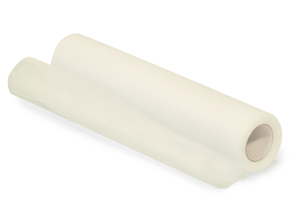 "**Ivory Cream Roll of Tulle, 12""x25 yards"