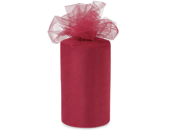"Brick Red Value Tulle Ribbon, 6""x100 yards"
