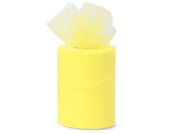 "Lemon Value Tulle Ribbon, 6""x100 yards"