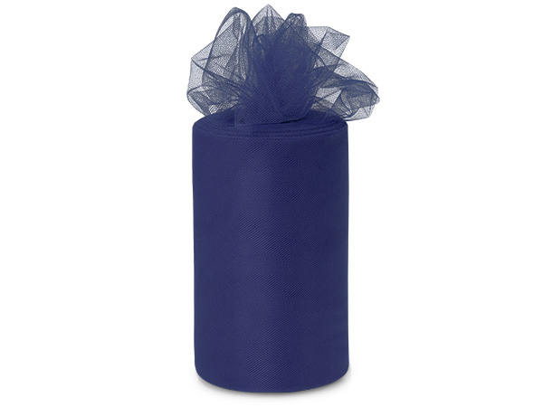"Cool Navy Blue Value Tulle Ribbon, 6""x100 yards"