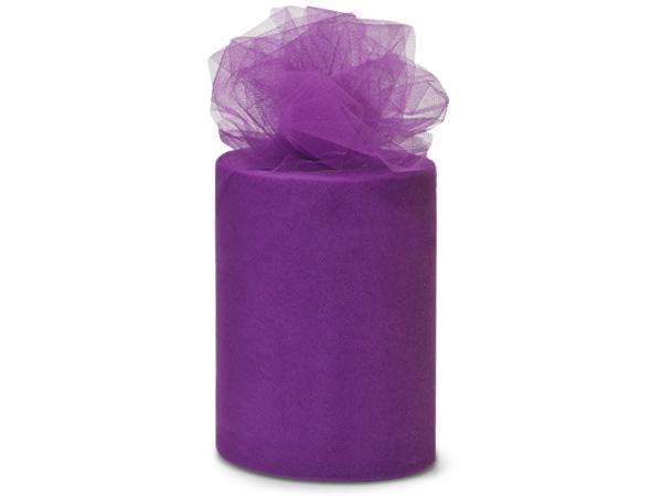 "Purple Value Tulle Ribbon, 6""x100 yards"