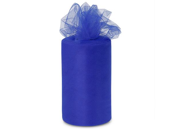 "Royal Blue Value Tulle Ribbon, 6""x100 yards"