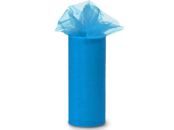 "Turquoise Value Tulle Ribbon, 6""x25 yards"