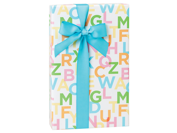 """I Know My ABC's, 30""""x150' Bulk Wrapping Paper Roll"""