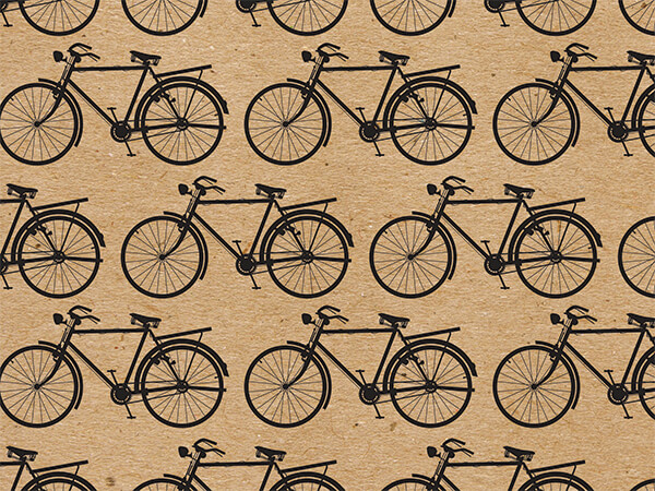 "Kraft Bicycles, 30""x25' Wrapping Paper Roll"