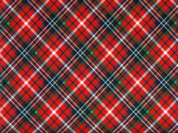 """Christmas Plaid, 30""""x150' Wrapping Paper Roll"""