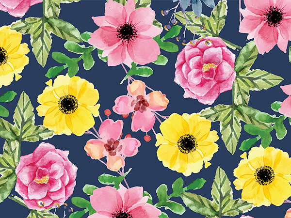 "*Island Floral Wrapping Paper 30""x150' Large Roll"