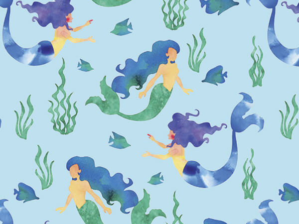 "Mermaid Splash 30"" x 150' Gift Wrap Roll"