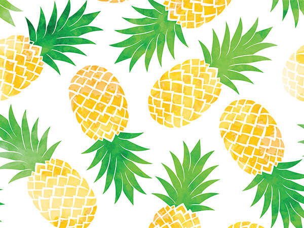 "Pineapples, 30""x150' Bulk Wrapping Paper Roll"