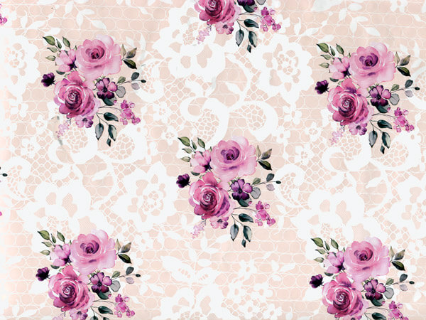 "Send Me Roses, 30""x150' Bulk Wrapping Paper Roll"
