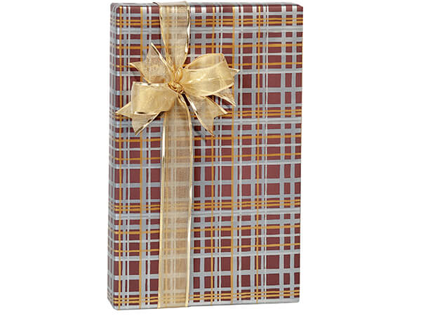 "*Treasury Plaid Gift Wrap, 24""x85'"