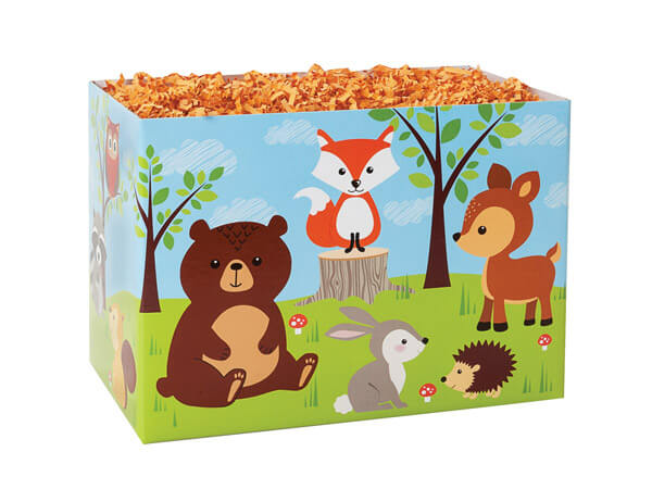 """Woodland Animals Basket Boxes, Small 6.75x4x5"""", 6 Pack"""