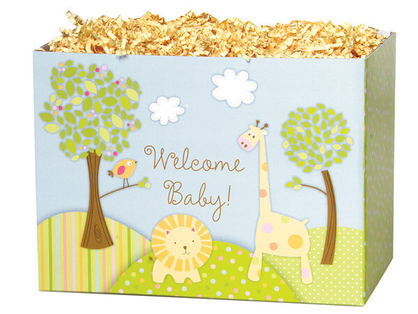 Large Welcome Baby Basket Boxes 10-1/4x6x7-1/2""
