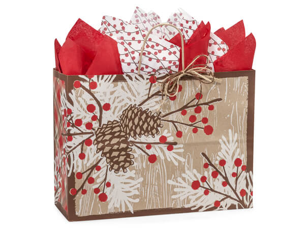 Vogue Woodland Berry Pine Paper Bags 250 16x6x12""