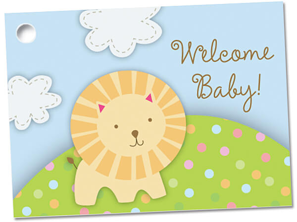 Welcome Baby Theme Gift Cards 3-3/4x2-3/4""