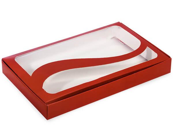 "Red 1 lb. Window Swirl 10x6x1.25"", 100 Pack"