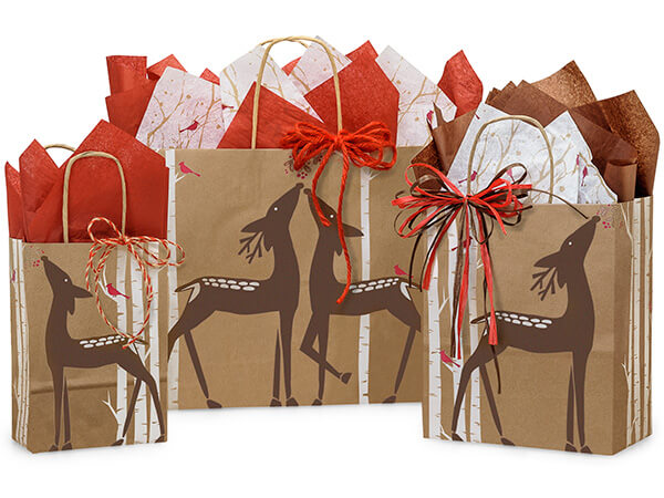 Woodland Deer Paper Shopping Bags