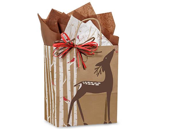 """Cub Woodland Deer Paper Bags 250  8x4-3/4x10-1/4"""""""