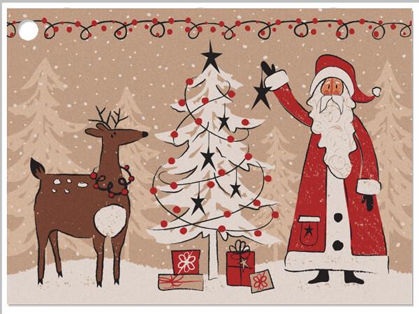 Woodland Santa Gift Card