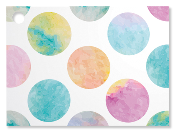 "Watercolor Dots Theme Gift Cards, 3.75x2.75"", 6 Pack"