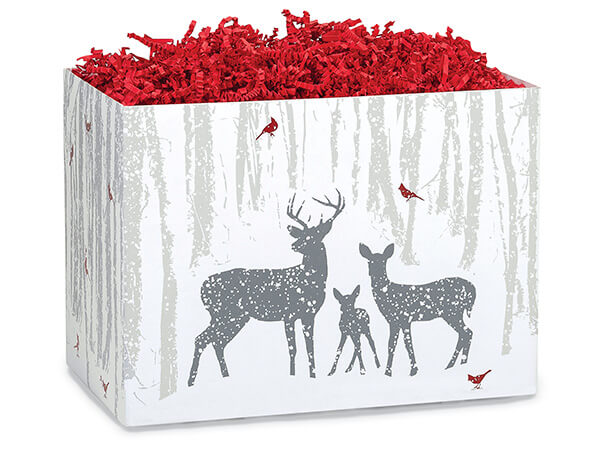"Woodland Frost Basket Boxes, Large 10.25x6x7.5"", 6 Pack"