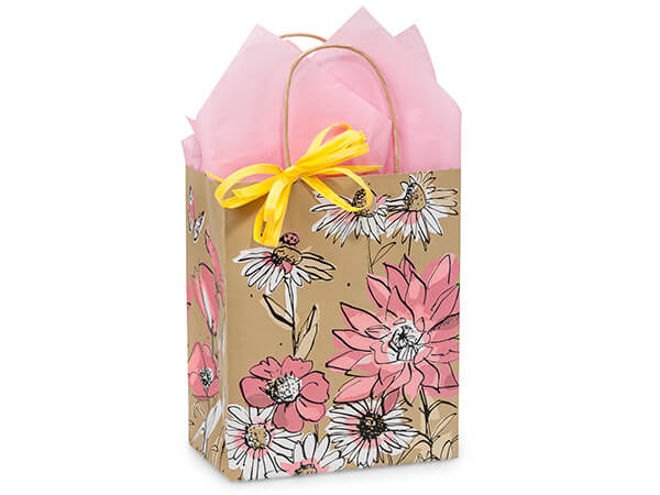 Cub Wildflower Meadow Paper Bags 250 8x4-3/4x10-1/4""