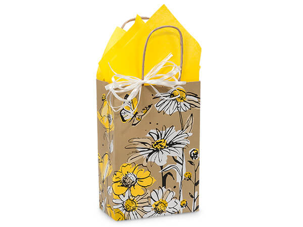 Rose Wildflower Meadow Paper Bags 250 5-1/2x3-1/4x8-3/8""