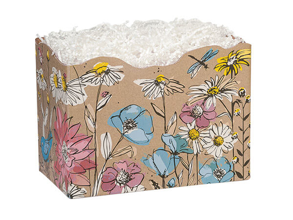 *Small Wildflower Meadow Basket Boxes 6-3/4x4x5""